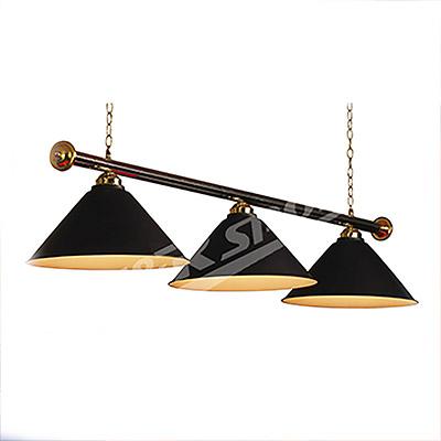 Black Metal Pool Billiard Snooker Table Light