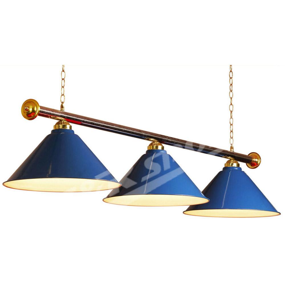 Blue Metal Pool Billiard Snooker Table Light