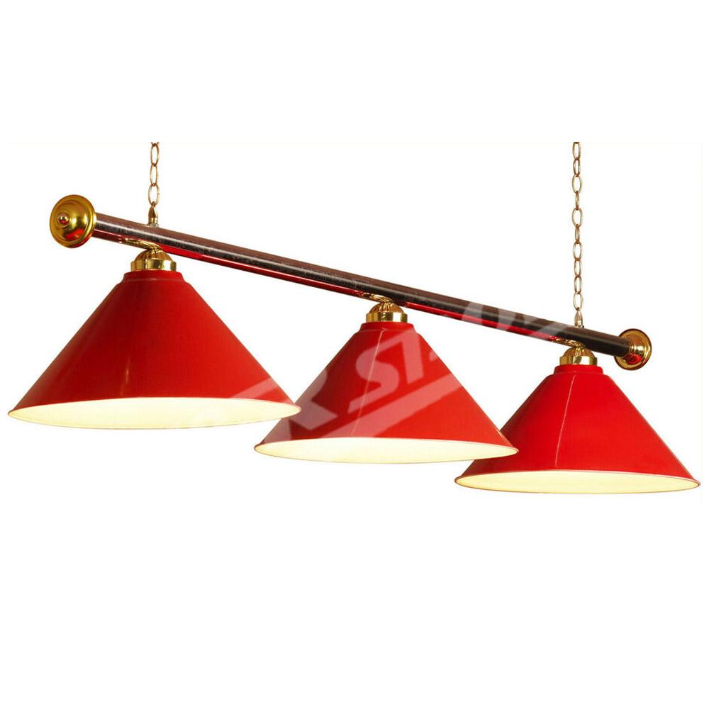 Shades Red Metal Pool Billiard Snooker Table Light