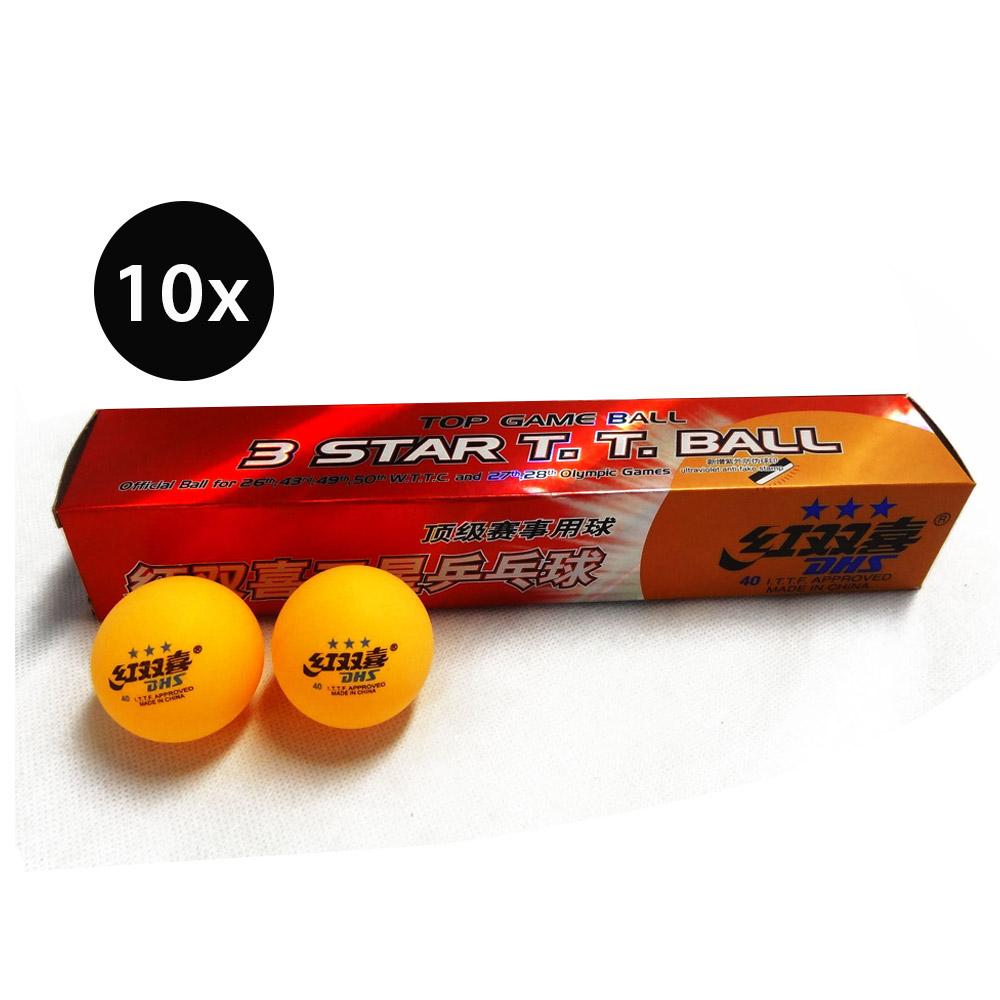 60 DHS 3 STAR 40MM TABLE TENNIS PING PONG BALLS