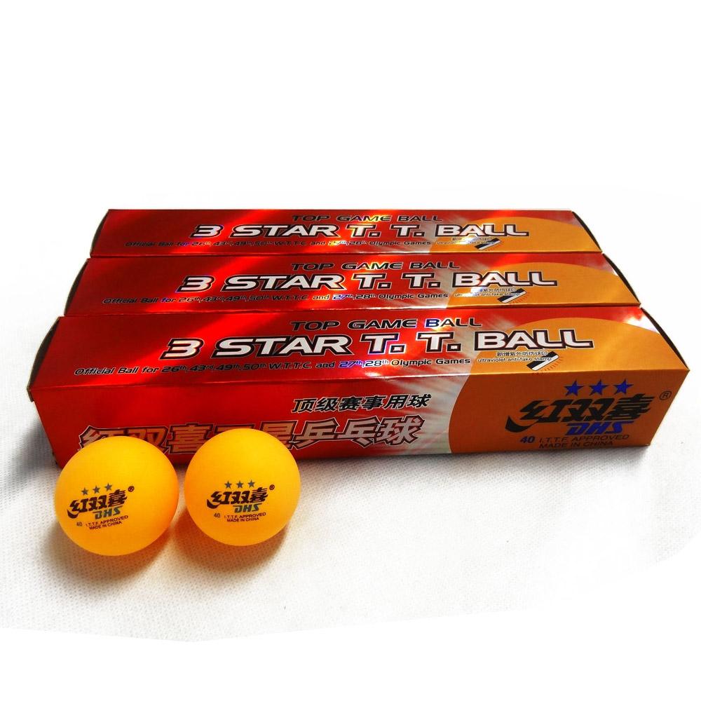 18x DHS 3 Star 40mm Table Tennis Balls