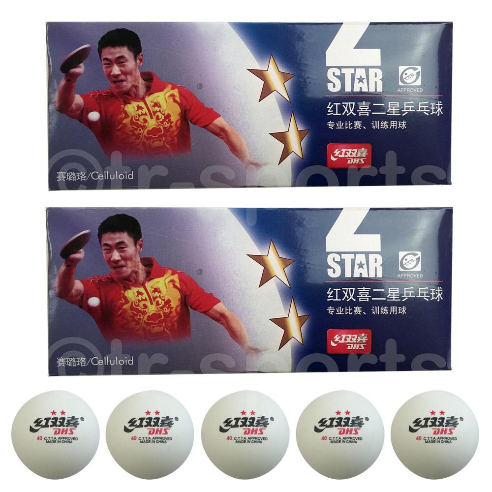 20x DHS 2 Star 40mm Table Tennis Ping Pong Balls