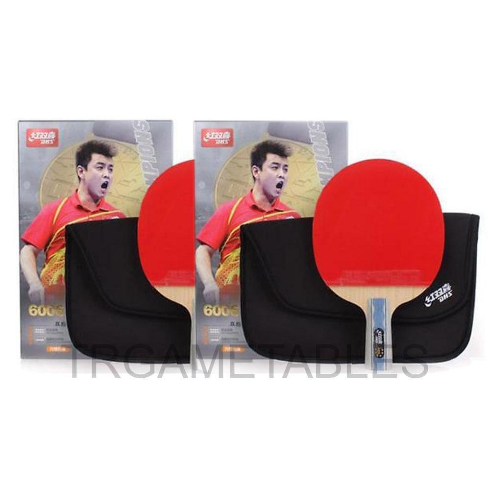 DHS 6 Star Table Tennis Bat / Ping Pong Racket