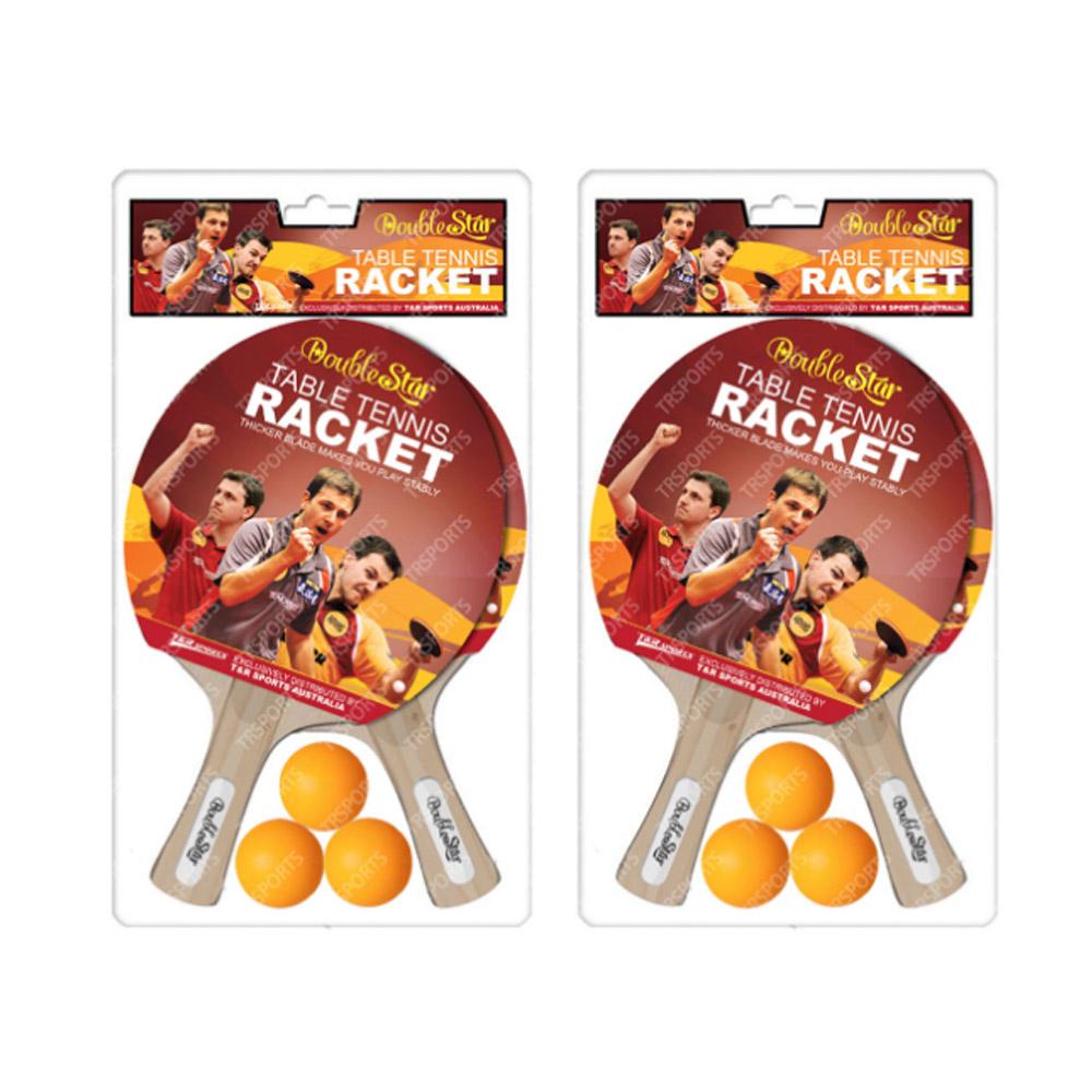 Ping Pong Rackets Set: 2 Bats + 1 Net