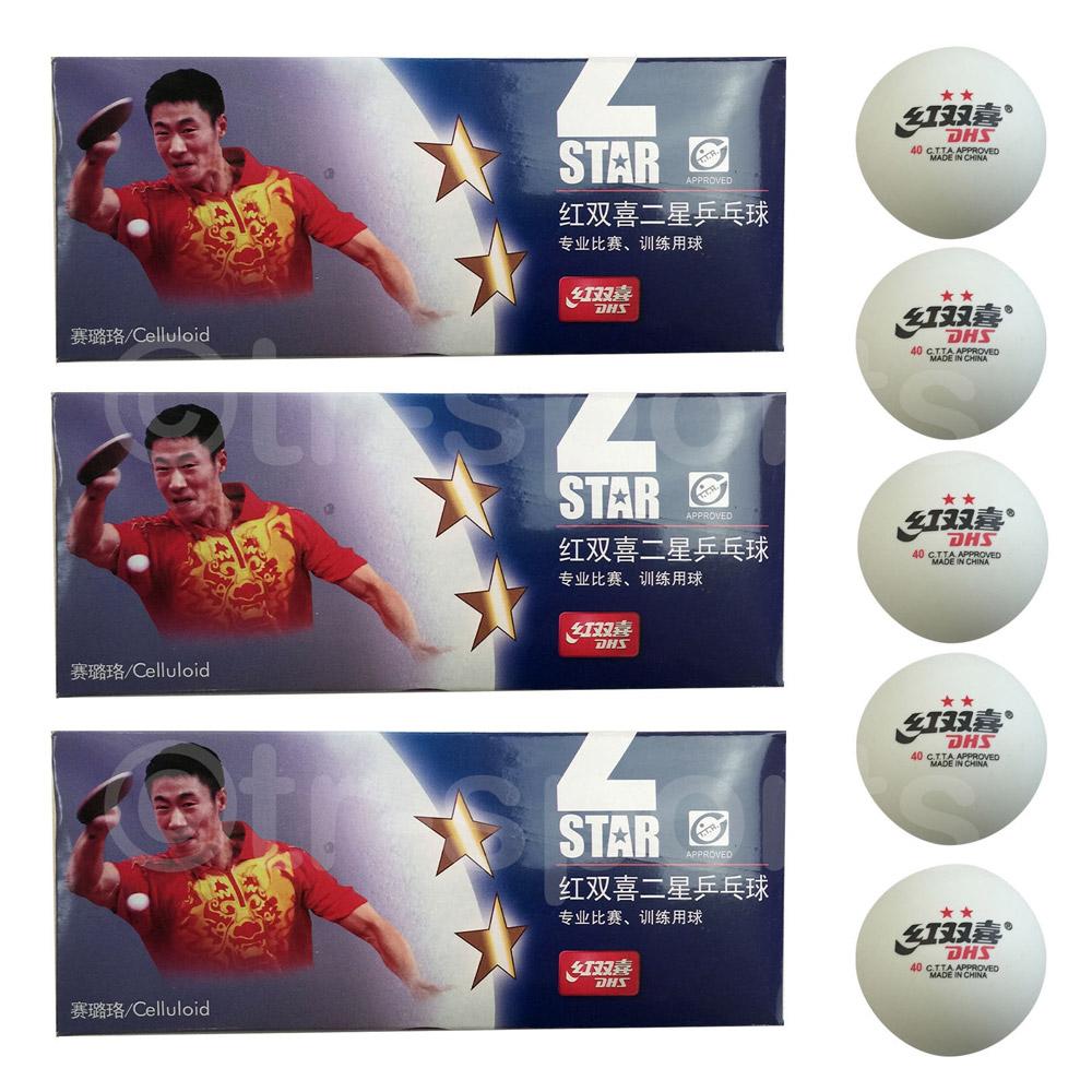 30x DHS 2 Star 40mm Table Tennis Ping Pong Balls