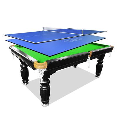 7FT Green Slate Billiards/Pool Table + 2Pcs Table Tennis/Poker Top