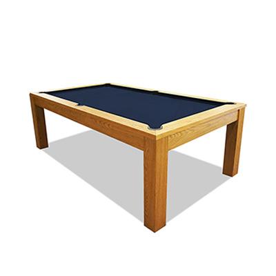 7FT LUXURY SLATE BILLARDS / SNOOKER TABLE W/ DINING TOP - OAK