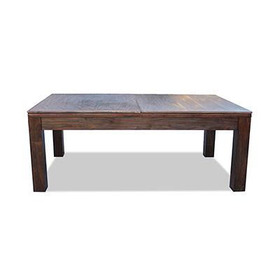 7FT WALNUT SLATE POOL / BILLARDS / SNOOKER TABLE W/ DINING TOP