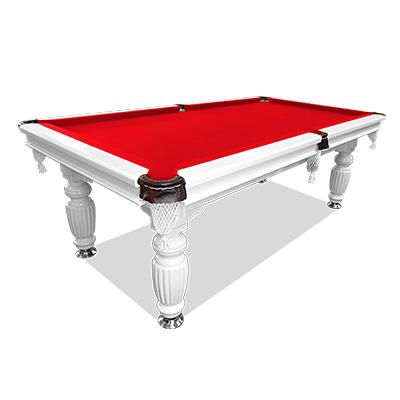 7ft red felt slate solid pool table