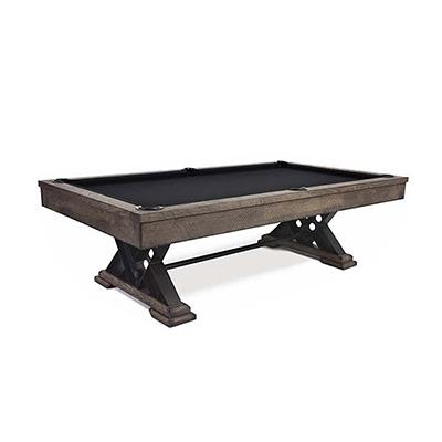8FT LUXURY SLATE BILLARDS / SNOOKER TABLE W/ DINING TOP